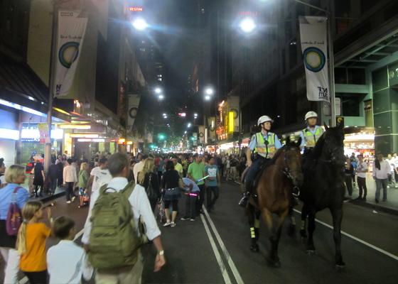 Police guards George St Sydney