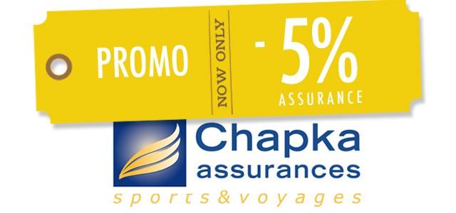 5% de réduction sur l'assurance Chapka WHV/PVT