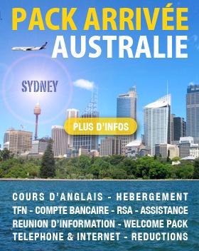 PACK ARRIVEE AUSTRALIE WHV 2