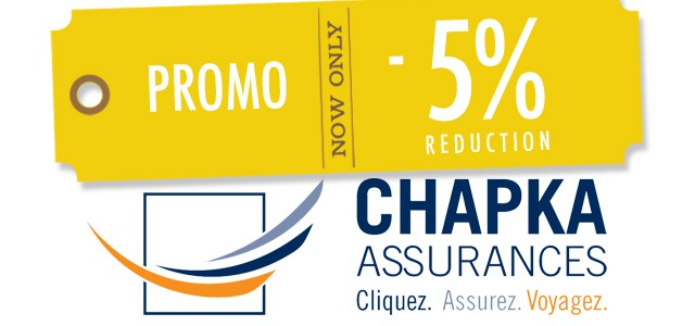 5% de réduction sur l'assurance Chapka WHV/PVT