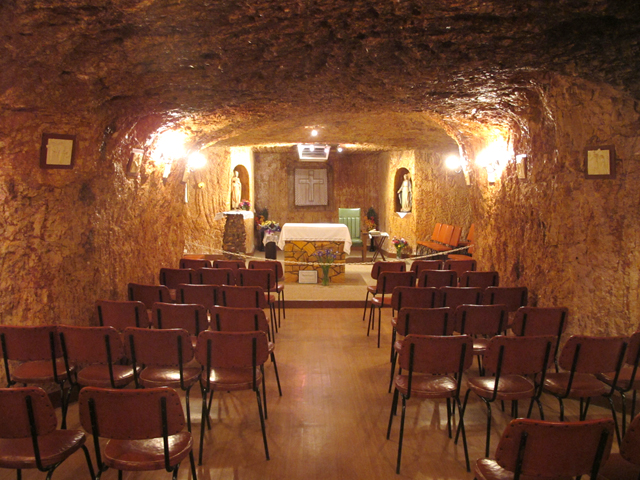 Coober Peddy Church underground