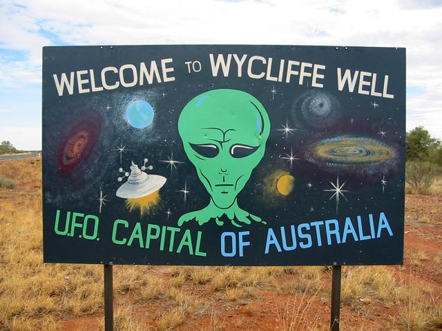 Wycliffe Well UFO Australie