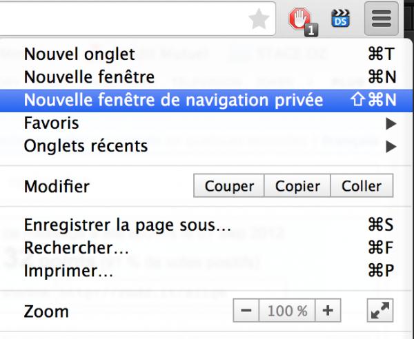 navigation privée