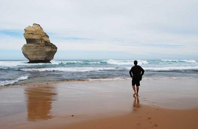 Voyager seul Australie plage