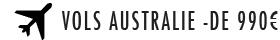 Billets d'avion AR Australie à partir de 935€