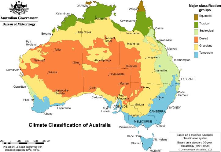 Source : Australian Bureau of Meteorology