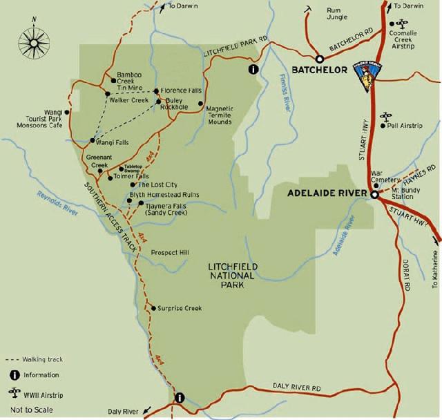 Litchfield National Park map