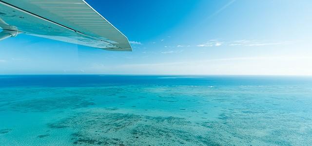 Faire un vol au-dessus de la Grande Barrière de Corail