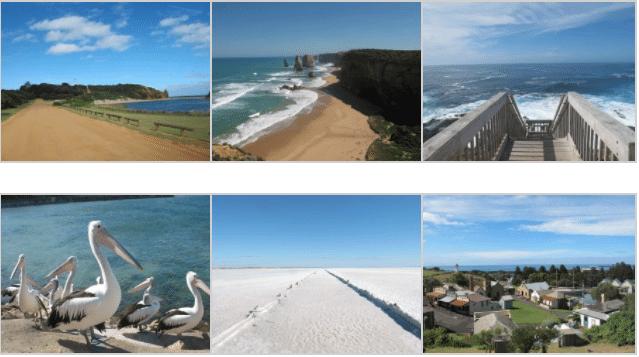 Itineraire cote sud australie