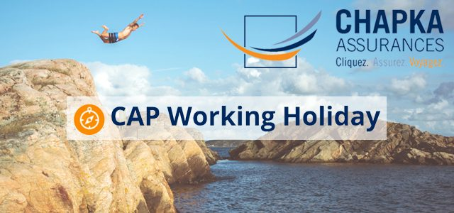 assurance cap working holiday  chapka assurances