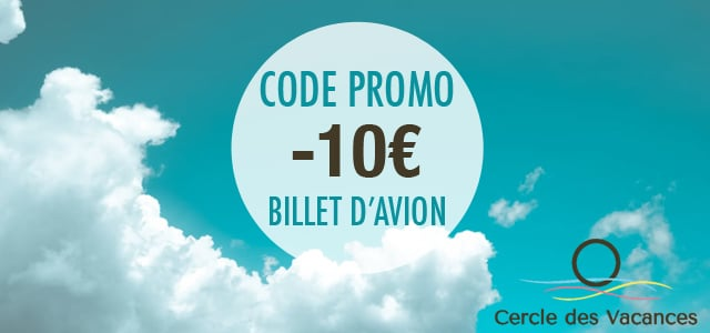code promo billet d 39 avion 10 de r duction avec cercle des vacances. Black Bedroom Furniture Sets. Home Design Ideas