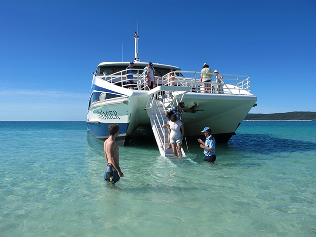 Whitsunday islands boat