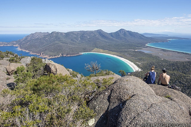wineglass bay Tasmanie plages d'Australie