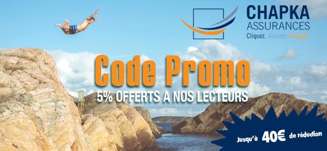 5% de réduction avec Chapka Assurances - code promo