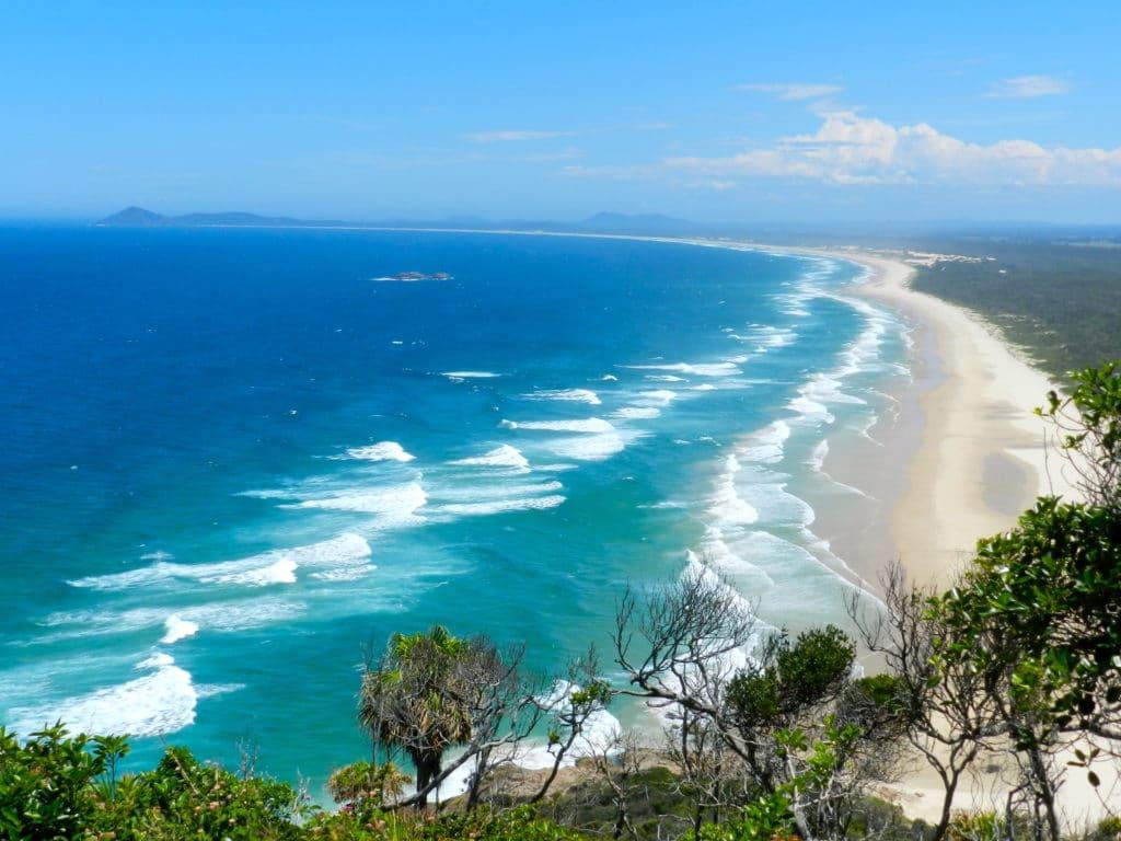 plage vue d'en haut