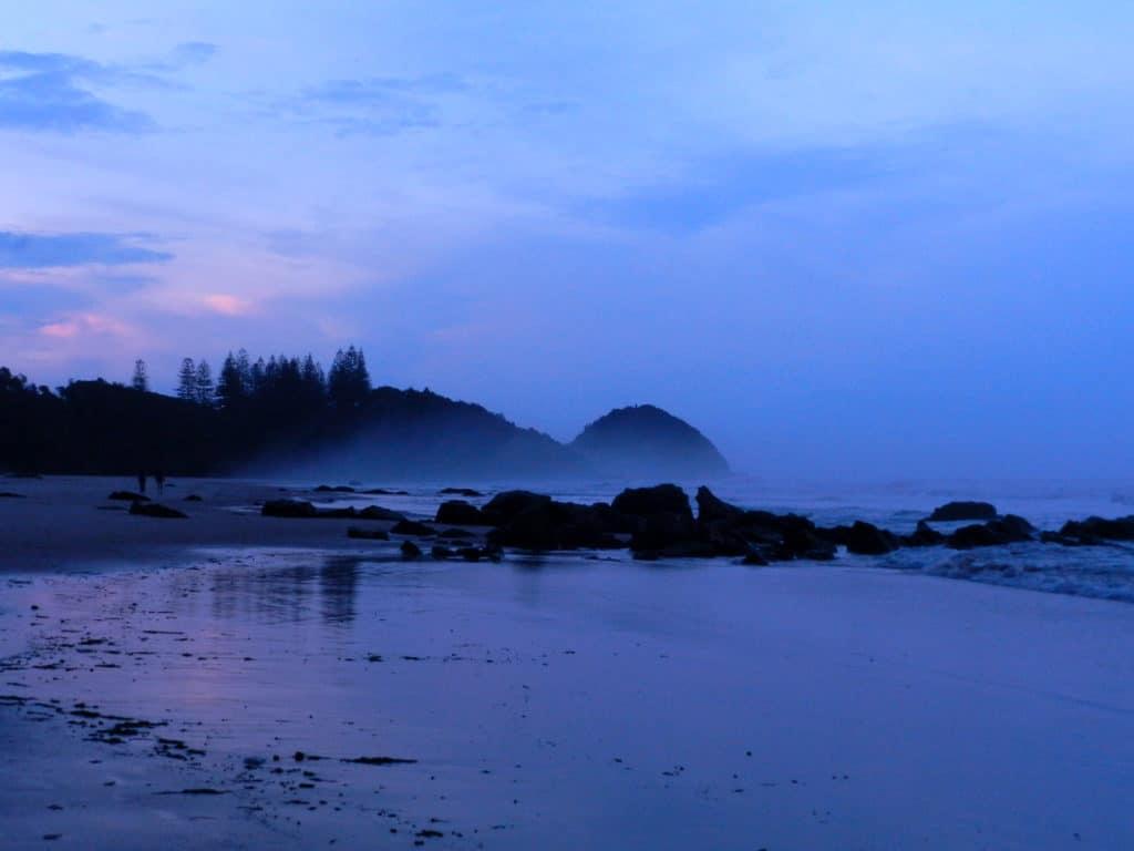 plage en fin de journée