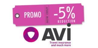Code promo Avi international 5%