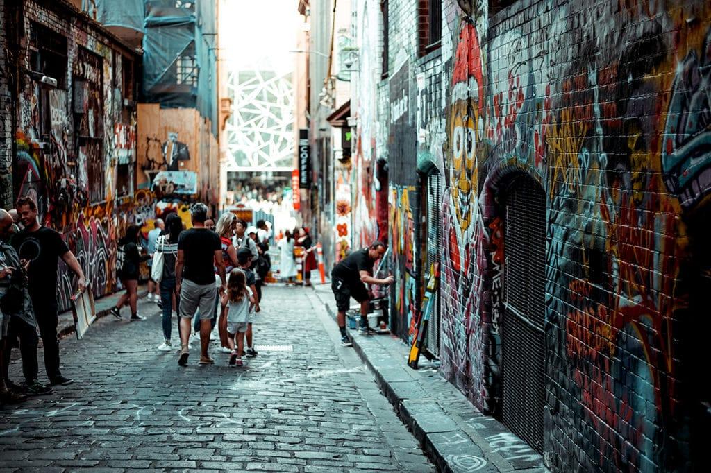 aktivitäten melbourne street art