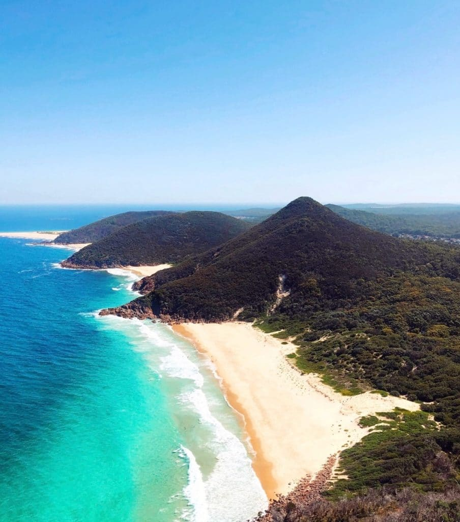 Tomaree Head-Gipfel, Port Stephens - Road trip Ostküste Australien